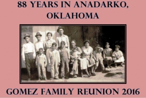 George and Susana Gomez Reunion 2016 in Anadarko,Okla was a Blast,close to 300 hundred Gomez's at the Pot Luck Dinner,i
