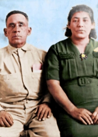 George and Susana Gomez  (photo restoration by Travis Wishon)