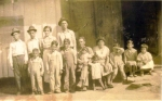 George and Susana Gomez Family 1935 Anadarko, OK at the G. R. Gomez home where they lived for 18 years on the Bert Mcvey