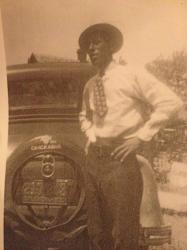 Eldest son, Joe C Gomez, during the Depression Years in Anadarko, OK.  The Gomez family remained in Anadarko during the