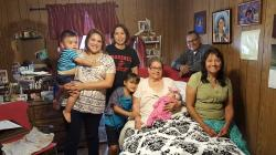 Louise Rosales Castillo and Pete with family, 2016; daughter of Savina Gomez Rosales, niece of George R Gomez