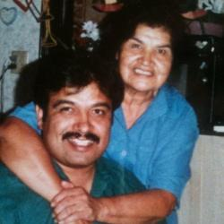 Paul R Gomez Jr. with his Beloved mother Delphine Parton Gomez. Paul Ray is son of Paul Gomez Sr.; Paul Sr. is son of Jo