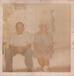 GEORGE AND SUSANA GOMEZ ANADARKO.OKLAHOMA at Aunt Juanita's house after our house burn down on Kentucky st.