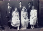 George R Gomez First man to the left,when his sister Augustina Gomez married Frank Jaques Robles.
