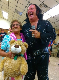 Aunt Rosie with Elvis impersonator